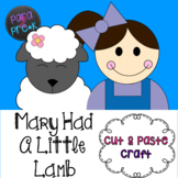 Nursery Rhymes Mary Had A Little Lamb Cut and Paste Craft