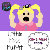 Nursery Rhymes Little Miss Muffet and Paste Craft Template
