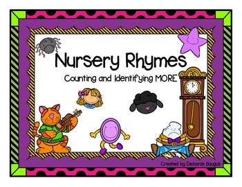 Nursery Rhymes Math Center Counting and Identifying More
