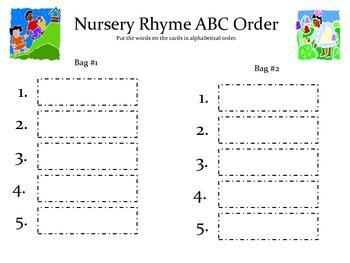 Nursery Rhymes Math & Literacy Unit