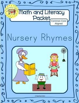 Nursery Rhymes Worksheets Emergent Reader Task Cards