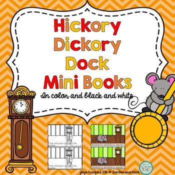 Nursery Rhymes Mini Book - Hickory Dickory Dock