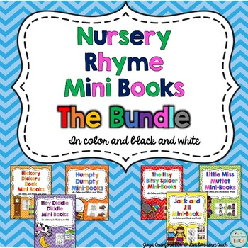 Nursery Rhymes Mini Books Bundle