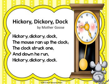 Nursery Rhymes - Mother Goose - Posters and Write the Room