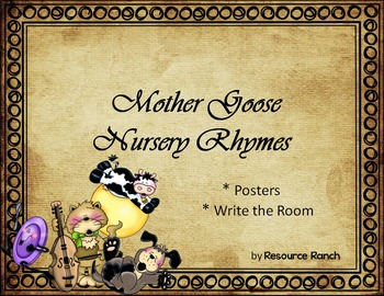 Mother goose teaching resources teachers pay teachers nursery rhymes mother goose posters and write the room fandeluxe Gallery