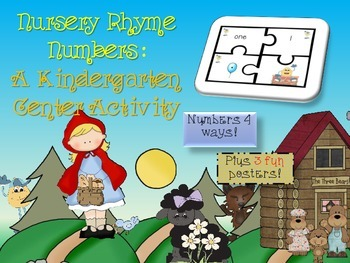 Nursery Rhymes Number Match Puzzles 1 - 10 Center Game plu