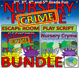 Nursery Rhymes-Playscript for whole class/school and ESCAPE ROOM (Nursery Crime)