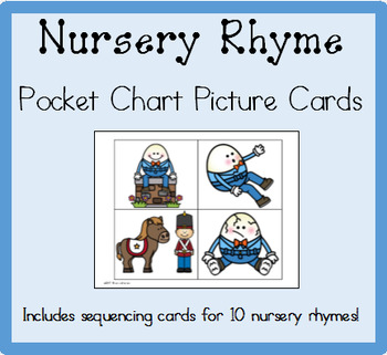 Nursery Rhyme Pocket Chart Picture Cards
