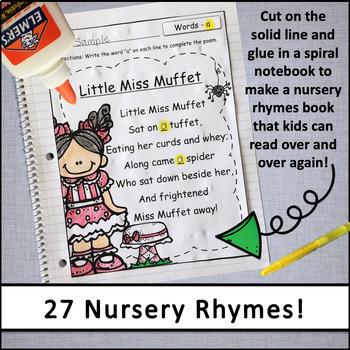 Back to School Nursery Rhymes Poetry Book