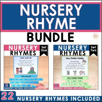 Nursery Rhymes Poetry Center (BUNDLE) - 22 poems