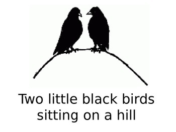 Nursery Rhymes Power Point - Two Little Black Birds