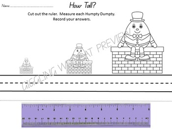 Nursery Rhymes Math and Literacy Activities