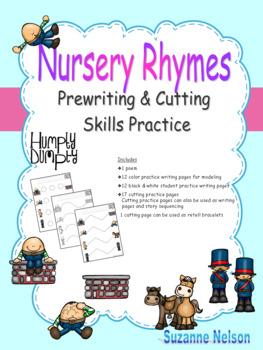 Nursery Rhymes Prewriting and Cutting Skills Practice Humpty Dumpty