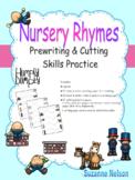 Nursery Rhymes Prewriting and Cutting Skills Practice Hump