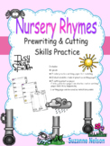 Nursery Rhymes Prewriting and Cutting Skills Practice Itsy Bitsy Spider