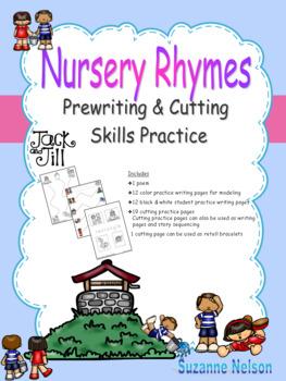 Nursery Rhymes Prewriting and Cutting Skills Practice Jack and Jill