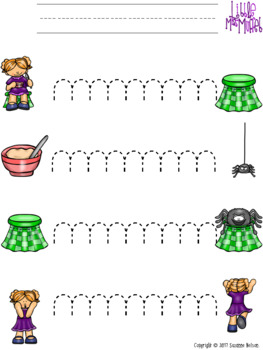 Nursery Rhymes Prewriting and Cutting Skills Practice Little Miss Muffet