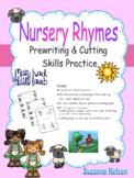 Nursery Rhymes Prewriting and Cutting Skills Practice Mary