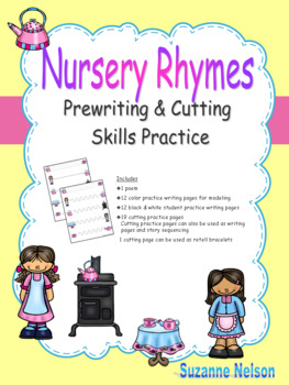 Nursery Rhymes Prewriting and Cutting Skills Practice Polly Put the Kettle On
