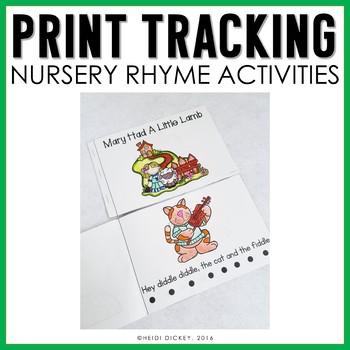 Nursery Rhymes: Print Tracking Books