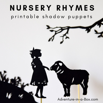 picture regarding Printable Shadow Puppets titled Nursery Rhymes Printable Shadow Puppets for Little ones