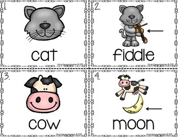 Nursery Rhymes Read and Write the Room Center