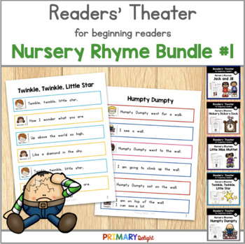 Nursery Rhymes Readers' Theater Bundle  #1