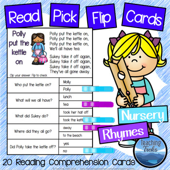 Nursery Rhymes Reading Comprehension Passages Clothespin Activities