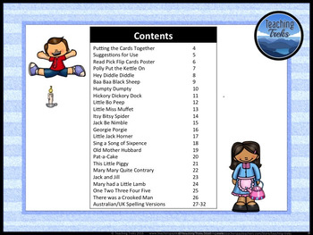 Nursery Rhymes for Kindergarten: Reading Comprehension Passages and Questions