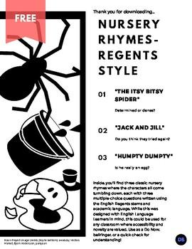 Nursery Rhymes - Regents Style