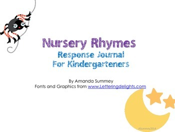 Nursery Rhymes Response Journal for Kindergarteners