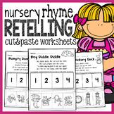 Nursery Rhymes Retelling Worksheets - No Prep Literature P