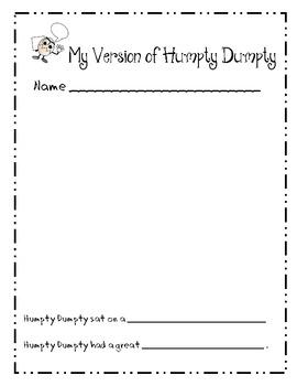 Nursery Rhymes: Rewrite Humpty Dumpty