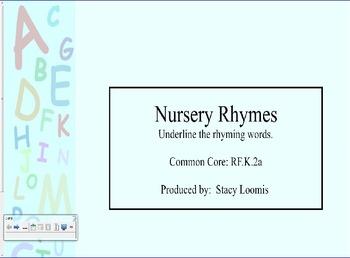 Nursery Rhymes-Rhyming Words