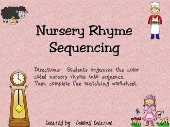 Nursery Rhymes Sequencing (Beginning, Middle, End)