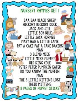 Nursery Rhymes Set 1