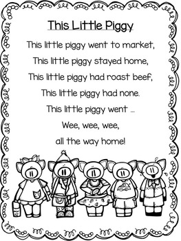 Nursery Rhymes - Set 2 {Literacy Pack}