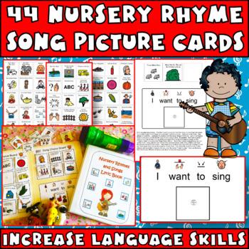 Nursery Rhymes & Songs book with Choice Board
