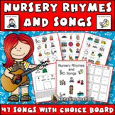 Nursery Rhymes & Songs book with Choice Board