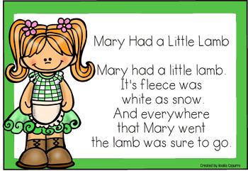 Nursery Rhymes Sorting Mats