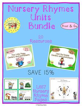 Nursery Rhymes Units Bundle