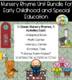 Nursery Rhymes Unit Bundle for Early Childhood and Special Education