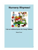 Nursery Rhymes Unit on Traditional Poems for Young Children