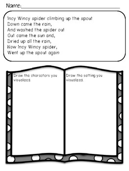 Nursery Rhymes: Visualizing No-Prep Worksheets