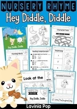 Nursery Rhymes Worksheets BUNDLE