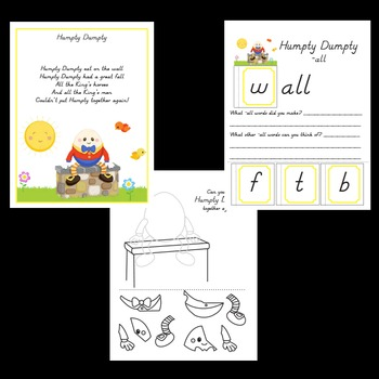 Nursery Rhymes, Worksheets and Activities