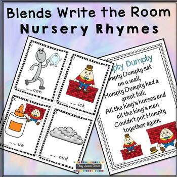 Nursery Rhymes Write the Room - blends