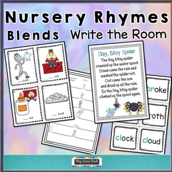 Nursery Rhymes Write the Room - blends