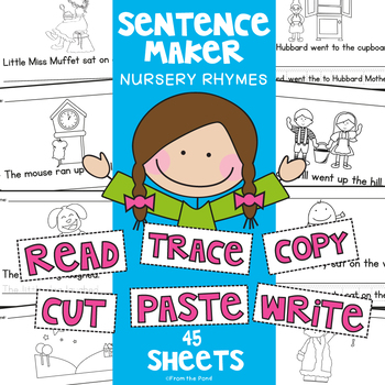 Nursery Rhymes {Differentiated Writing Worksheets}