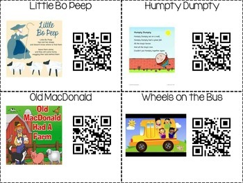 Nursery Rhymes and Classic Children's Songs using QR Codes